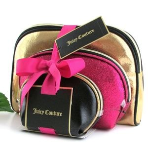 Juicy Couture Set of 3 Dome-Shaped Cosmetic Bags